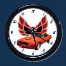 New Red/Orange 1976 Pontiac Trans AM Wall Clock