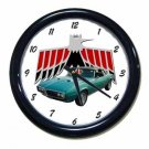 New Turquoise 1968 Pontiac Firebird Convertible Wall Clock