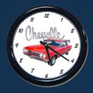 New Red 1967 Chevy Chevelle Wall Clock