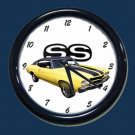 New Yellow 1970 Chevy Chevelle SS Wall Clock