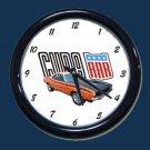 New Orange 1970 Plymouth AAR Cuda Wall Clock