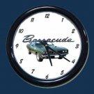 New Dk. Green 1971 Plymouth Barracuda Wall Clock