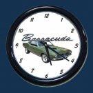 New Dk. Green 1970 Plymouth Barracuda Wall Clock