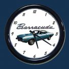 New Blue 1974 Plymouth Barracuda Wall Clock