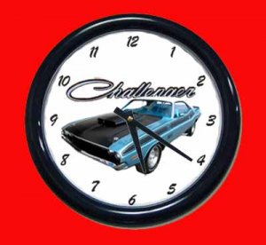 New Blue 1970 Dodge Challenger TA Wall Clock