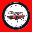 New Red 1974 Dodge Challenger Wall Clock