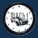 New White 1969 Mustang Mach 1 Wall Clock