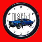 New Blue 1970 Mustang Mach 1 Wall Clock