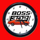 New Red/Orange 1970 Boss Mustang Wall Clock