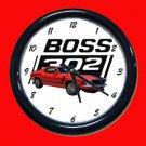 New Red 1970 Boss Mustang Wall Clock