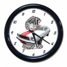 New White 1977 Ford Mustang Cobra Wall Clock