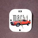 New Red 1970 Ford Mustang Mach 1 Desk Clock