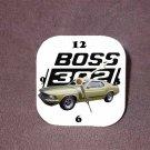 New Med. Lime 1970 Ford Boss Mustang Desk Clock
