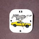 New Yellow 1970 Ford Mustang Desk Clock
