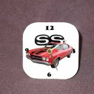 New Red/Black 1970 Chevy Chevelle SS Desk Clock