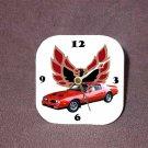 New Red 1977 Pontiac Formula Firebird Desk Clock