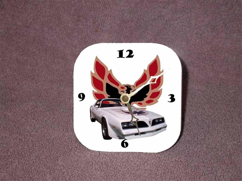 New White 1977 Pontiac Trans AM Desk Clock