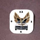 New White/Gold 1977 Pontiac Trans AM Desk Clock