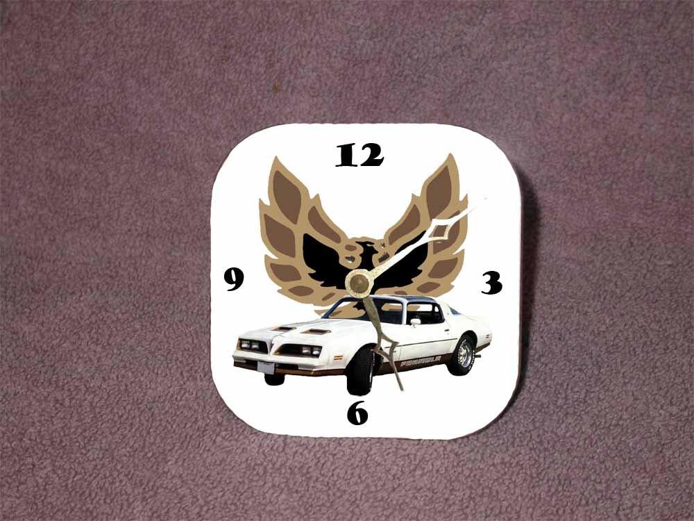 New White/Gold 1977 Pontiac Formula Firebird Desk Clock