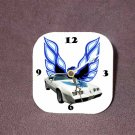 New White/Blue 1979 Pontiac Trans AM Desk Clock