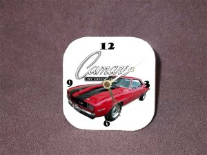 New 1969 Chevy Camaro Z28 Desk Clock