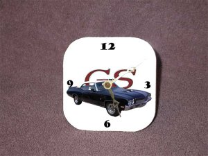 New 1970 Blue Buick Gran Sport Convertible Desk Clock