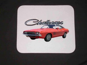 New Red 1974 Dodge Challenger Mousepad!!