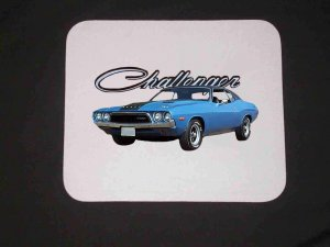 New Blue 1972 Dodge Challenger Mousepad!!