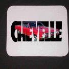 New 1966 Red Chevy Chevelle Black Top w/ letters Mousepad!