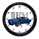 New Blue 1970 Mustang Mach 1 Wall Clock