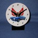New  1973 Blue Pontiac Formula Firebird desk clock!