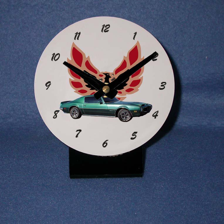 New  1973 Green Pontiac Formula Firebird desk clock!