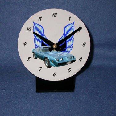 New Blue 1979 Pontiac Firebird Trans AM desk clock!