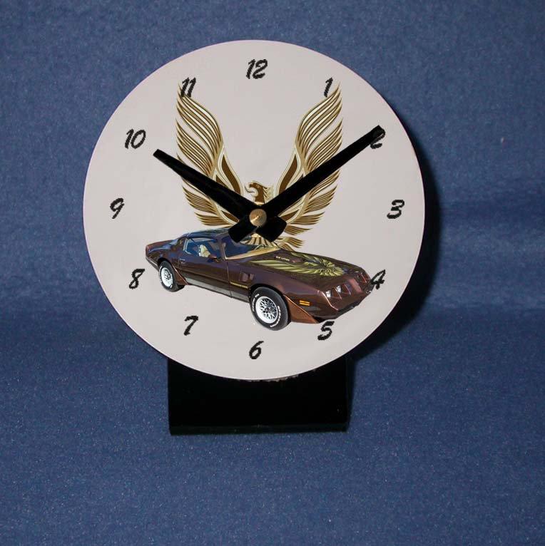 New Brown 1979 Pontiac Firebird Trans AM desk clock!