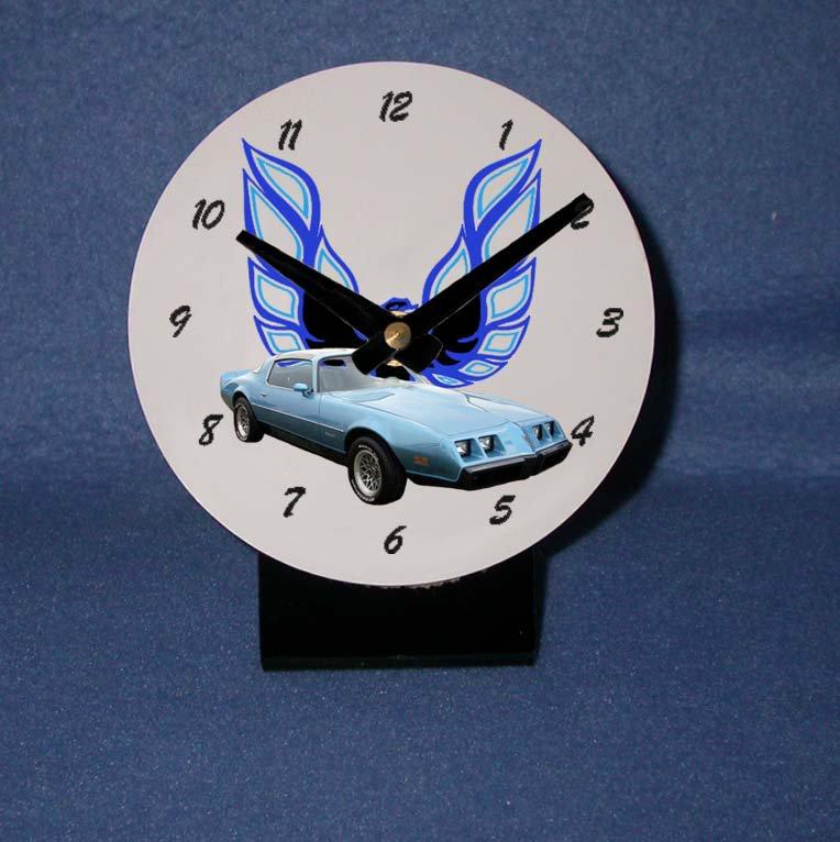 New  1980 Blue Pontiac Turbo Formula Firebird desk clock!