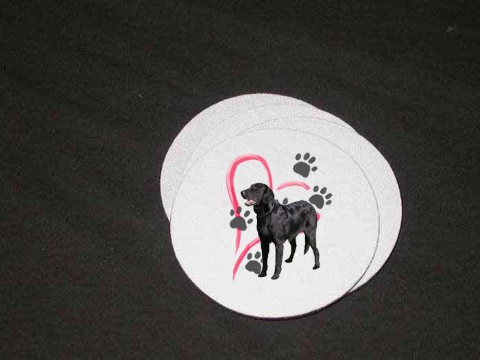 New Black Labrador Soft Coaster set!!