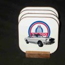 Beautiful 1965 Ford Cobra Mustang GT-350 Hard Coaster set!