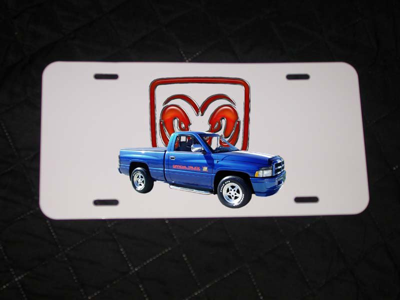 NEW Dodge RAM Indy Pace Truck License Plate FREE SHIPPING!