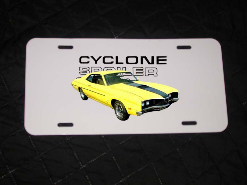 NEW 1970 Yellow Mercury Cyclone Spoiler License Plate FREE SHIPPING!
