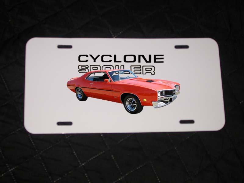 NEW 1970 Orange Mercury Cyclone Spoiler License Plate FREE SHIPPING!