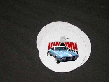 New Lt. Blue 1967 Pontiac Firebird Soft Coaster set!!