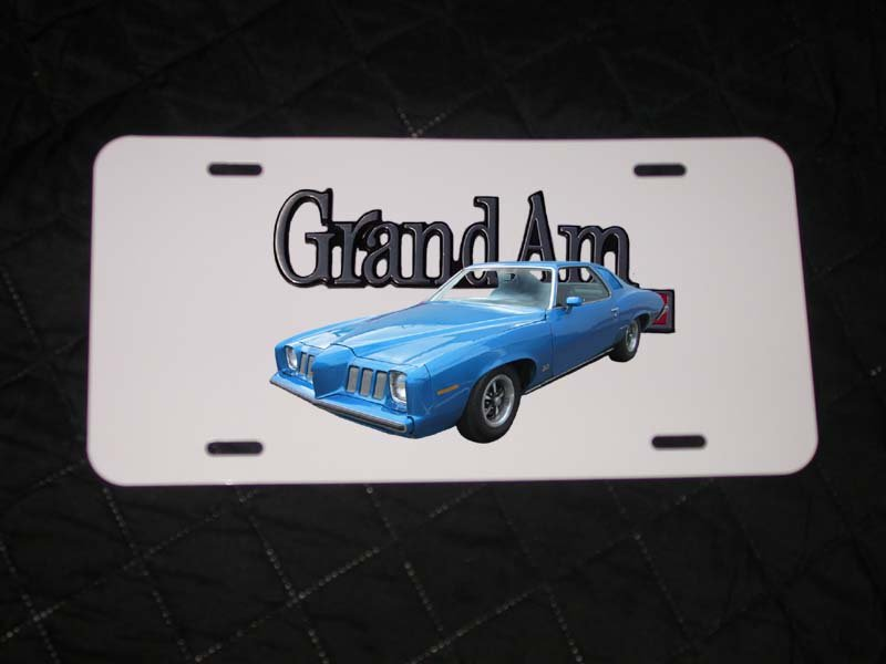 NEW Blue 1973 Pontiac Grand AM License Plate FREE SHIPPING!