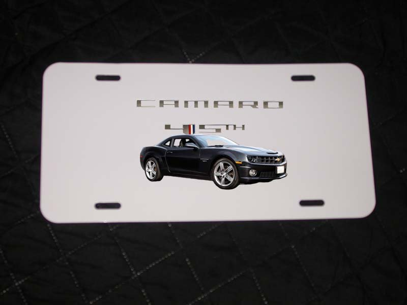 NEW 2012 45th anniversary Chevy Camaro License Plate FREE SHIPPING!