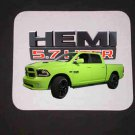 New 2017 Lime Dodge Ram Hemi 1500 Mousepad!!