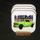 Beautiful 2017 Lime Dodge Ram Hemi 1500 Hard Coaster set!