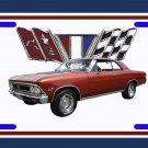 NEW 1966 Chevy Chevelle License Plate FREE SHIPPING!