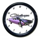 New 1973 Dodge Challenger Wall Clock