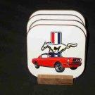 Beautiful 1965 Ford Mustang Fastback Hard Coaster set!