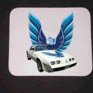 New 1979 White Pontiac  Trans AM LOGO Mousepad!