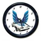 New 1979 White Pontiac  Trans AM LOGO Wall Clock